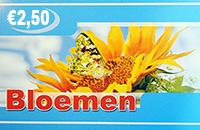 Bloemen €2.50+€2.50